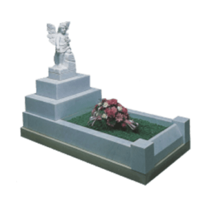 Childrens Traditional Memorial with Angel and Kerb Set