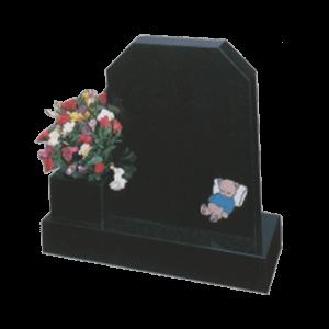 Childrens Black Granite Bear Memorial