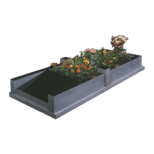 Black Granite Memorial with Full Kerb Set