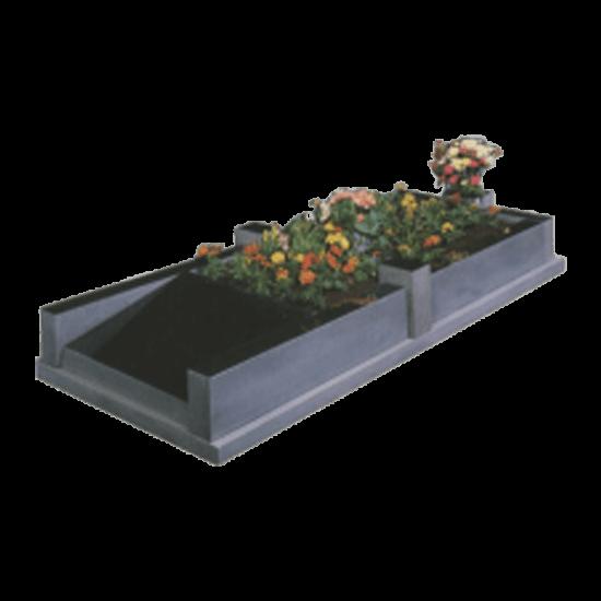 Black Granite Memorial with Full Kerb Set