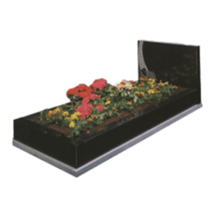 Black Granite Memorial with Full Kerb Set and Design