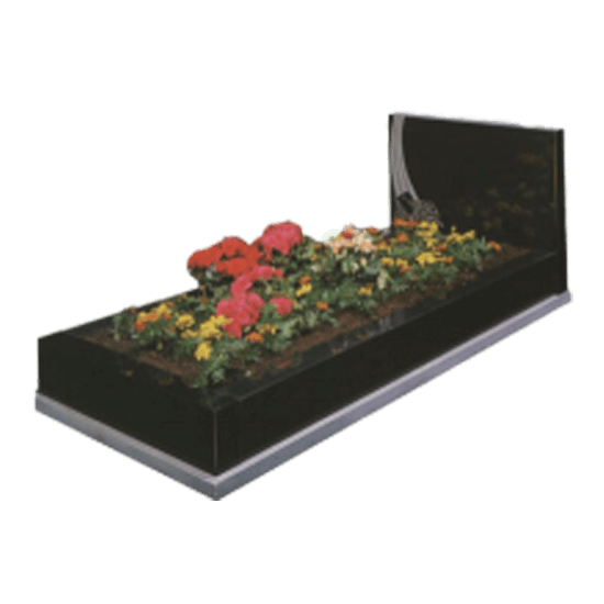 Black Granite Memorial with Full Kerb Set and Design