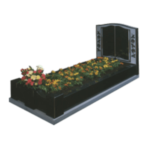 Black Granite Memorial with Full Kerb Set and Book Design