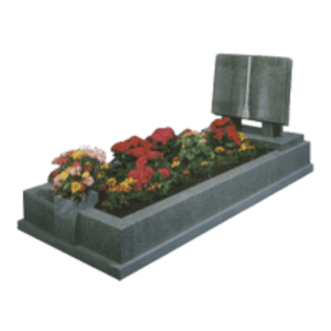 Light Grey Granite Memorial with Full Kerb Set