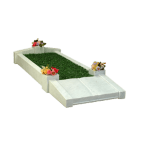 White Marble Memorial with Kerbs
