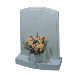 Nabresina Headstone and Base with Vase Memorial