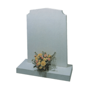 Limestone Headstone and Base Memorial