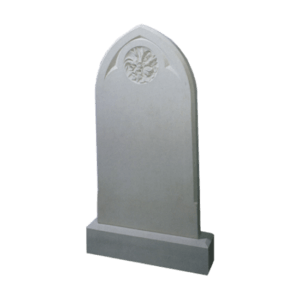 Nabresina Gothic Style Headstone and Base Memorial