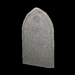 Honed Light Grey Granite Headstone and Base Memorial