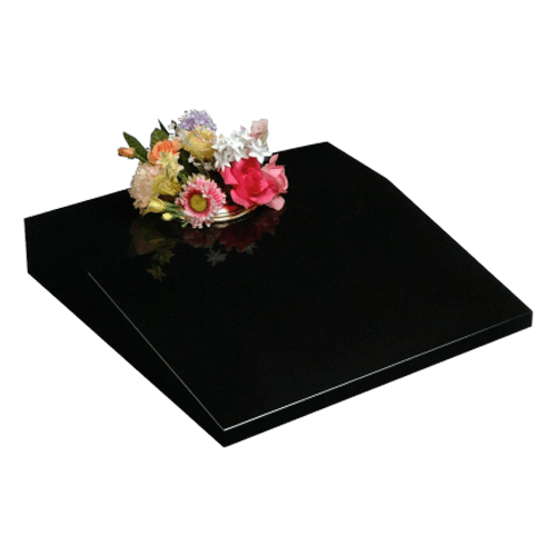 All Polished Black Granite Cremation Memorial