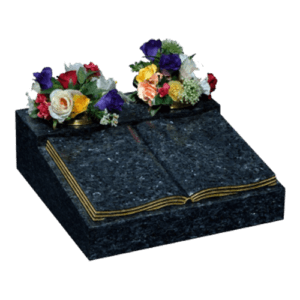 Blue Pearl Granite Book Cremation Memorial