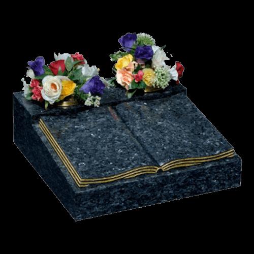 Blue Pearl Granite Book Cremation Memorial
